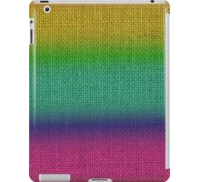 Natural Woven Ombre Shaded  Bright Rainbow Colors Burlap Sack Cloth iPad Case/Skin