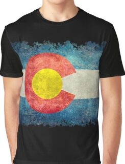 Flag of Colorado in vintage retro style Graphic T-Shirt
