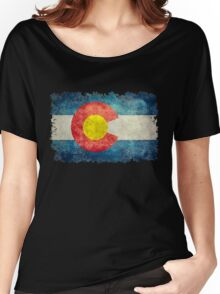 Flag of Colorado in vintage retro style Women's Relaxed Fit T-Shirt