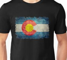 Flag of Colorado in vintage retro style Unisex T-Shirt