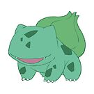 Simplified Bulbasaur by WithABlackTail