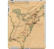 Vintage Map of British Forces in America (1766) iPad Case/Skin
