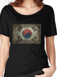 Flag of South Korea, vintage retro style Women's Relaxed Fit T-Shirt