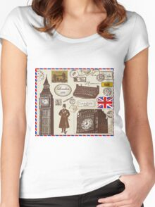 london Symbol Women's Fitted Scoop T-Shirt