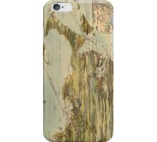 Vintage Cape Cod and NYC Steamboat Route Map iPhone Case/Skin