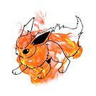 Flareon by WithABlackTail