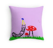 Happy Worm Throw Pillow