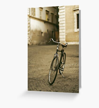lonely bicycle Greeting Card