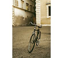 lonely bicycle Photographic Print
