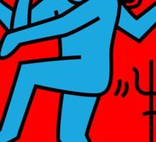 Dancing Shiva Keith Haring Tribute Sticker