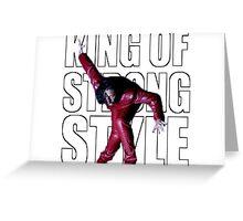 Shinsuke Nakamura - The King of Strong Style Greeting Card