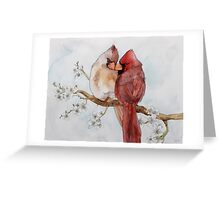Lovely Cardinals Greeting Card