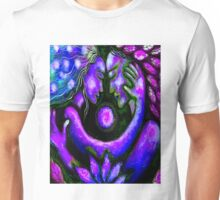"""PSYCHEDELIC COUPLE EMBRACING"" Abstract Print Unisex T-Shirt"