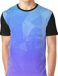 Blue/Purple Ombre Polygons Graphic T-Shirt