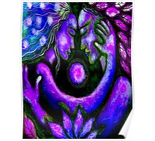 """PSYCHEDELIC COUPLE EMBRACING"" Abstract Print Poster"