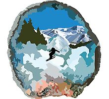 The Secret Lives of Geodes: The Skier  Photographic Print