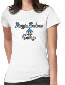 Kingpin Kustoms Garage chrome design Womens Fitted T-Shirt