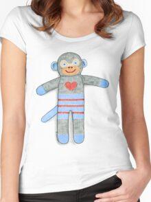 Sock Monkey Women's Fitted Scoop T-Shirt