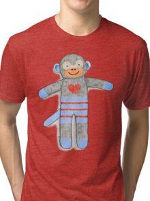 Sock Monkey Tri-blend T-Shirt