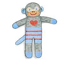 Sock Monkey Photographic Print