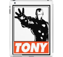 Iron Man Tony Obey Design iPad Case/Skin