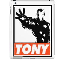 Iron Man Tony Obey Design iPad Case/Skin