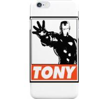 Iron Man Tony Obey Design iPhone Case/Skin