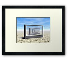 Flat Screen Desert Scene Framed Print