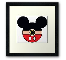 Mickey Mouse Pokemon Ball Mash-up Framed Print