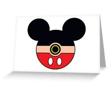 Mickey Mouse Pokemon Ball Mash-up Greeting Card