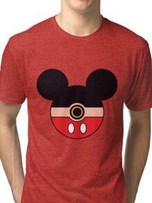 Mickey Mouse Pokemon Ball Mash-up Tri-blend T-Shirt
