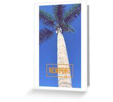 Newport Beach California Palm Tree Greeting Card
