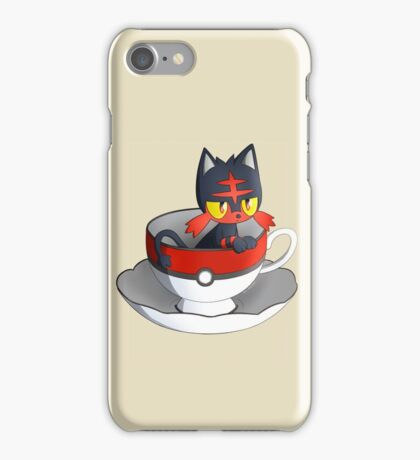 Pokemon Tea Time - Litten iPhone Case/Skin