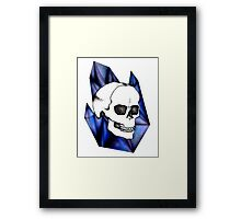 crystalline. Framed Print