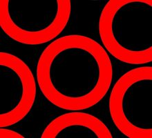 Black - Red Rings Sticker