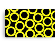 Black - Yellow Rings Canvas Print