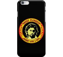 Snake Plissken (doesn't give a shit) Colour iPhone Case/Skin