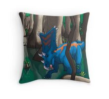 Dinosaur Swamp - Chasmosaurus Throw Pillow