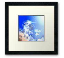 Cumulonimbus and Sun Framed Print
