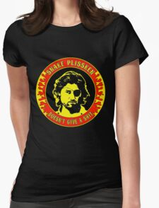 Snake Plissken (doesn't give a shit) Colour 2 Womens Fitted T-Shirt