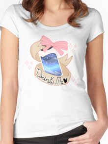 Drink Me - Pix Women's Fitted Scoop T-Shirt