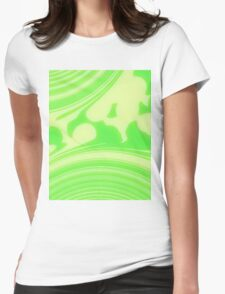 Sunrise - Green Yellow Womens Fitted T-Shirt