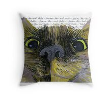 Beware the Evil Tortie Throw Pillow