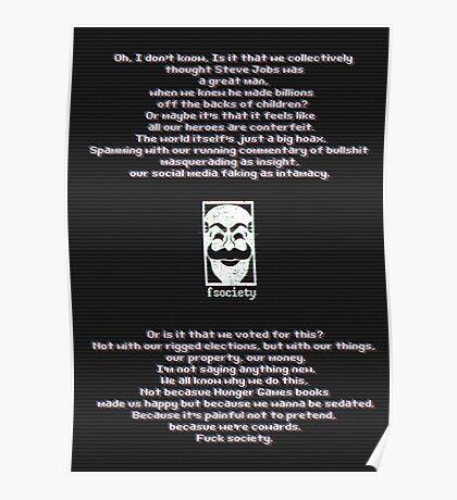 Fuck Society Poster