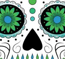Sugar Skull Green Sticker