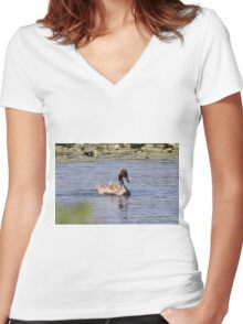 A most precious ugly duckling Women's Fitted V-Neck T-Shirt