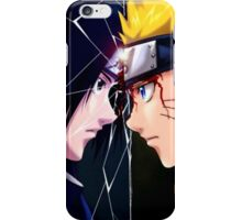naruto vs sasuke iPhone Case/Skin