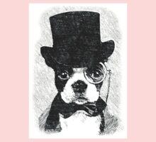 Cute Vintage Dog Wearing Glasses Baby Tee