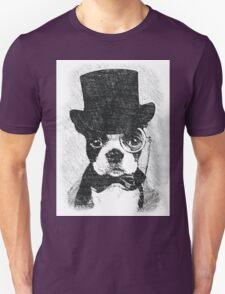 Cute Vintage Dog Wearing Glasses Unisex T-Shirt