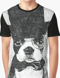 Cute Vintage Dog Wearing Glasses Graphic T-Shirt
